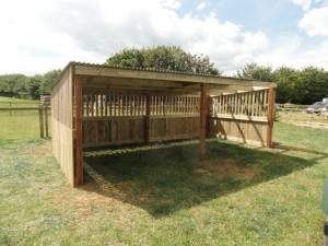 Large Animal Shelter completed at Manor Farm