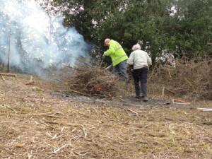Burning the waste