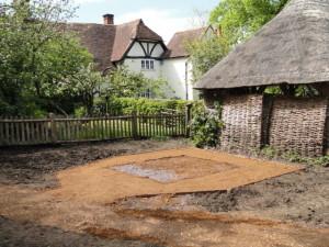 Base for Raised Pond at Manor Farm